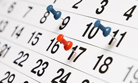 • Toți șefii de grupă sunt rugați să transmită la secretariatul facultății, până la data de  07.12.2017, programarea colocviilor și a examenelor din sesiunea ianuarie – februarie 2018, avizată de îndrumătorul de credite. Examenele se vor programa în timpul sesiunii: 3 ianuarie – 4 februarie 2018. Colocviile se pot programa şi în ultimele două săptămâni de activitate didactică. Verificările pe parcurs se finalizează înainte de începerea sesiunii de examene.  Nu se acceptă programările care nu au cel puțin 3 zile între examene, iar ultimul examen nu va fi programat mai devreme de penultima zi a sesiunii.